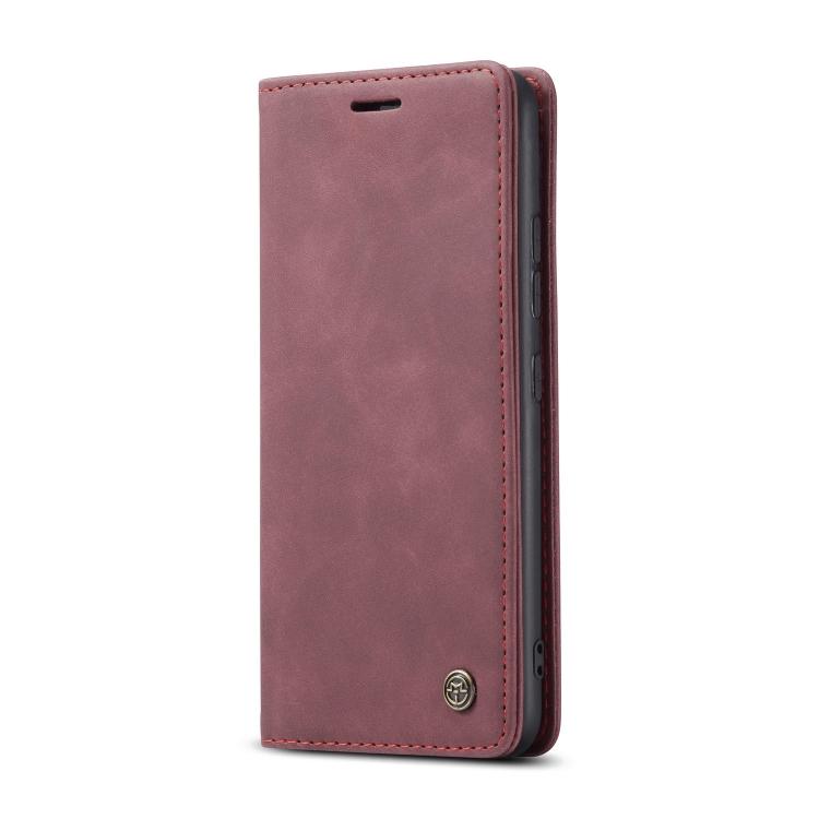 Кожаный чехол CaseMe-013 Multifunctional на Samsung Galaxy S10 Lite - винно-красный