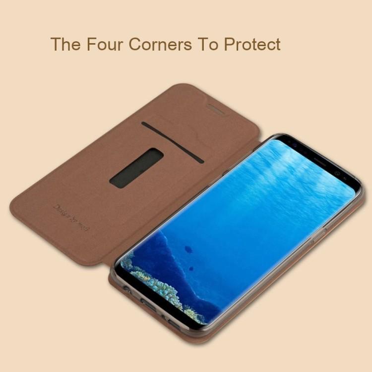 Кожаный чехол-книжка MOFI VINTAGE на Samsung Galaxy S8 Plus-черный