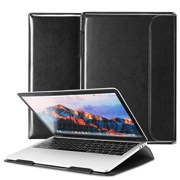 Кожанный чехол-конверт Dux Ducis на MacBook 13 - черный