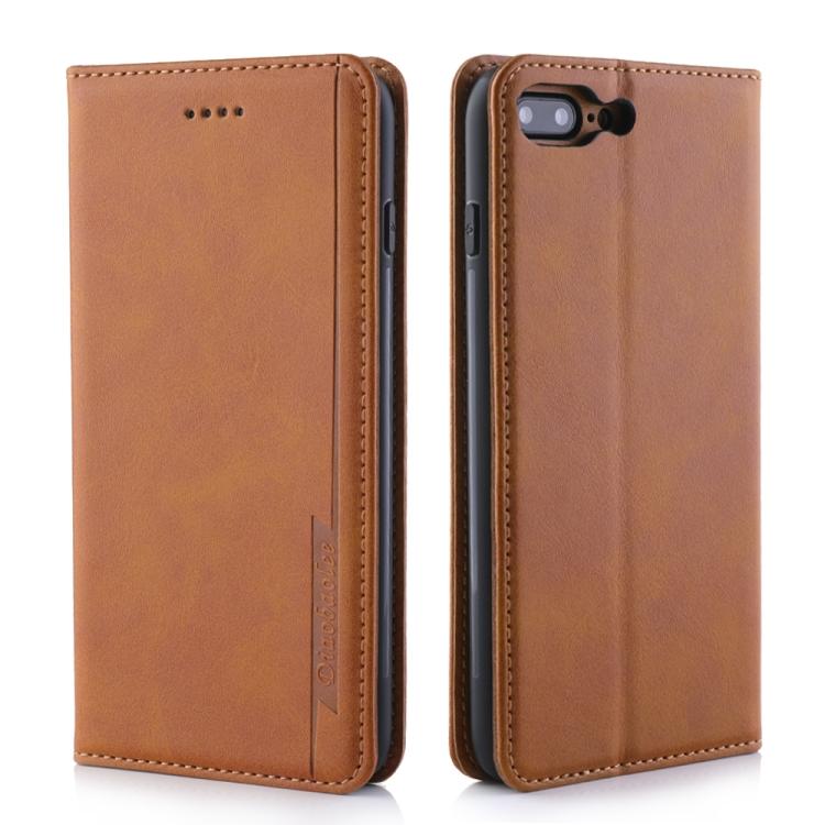 Чехол-книжка Diaobaolee Gemini на iPhone SE 2 2020 / 8 / 7 - коричневый
