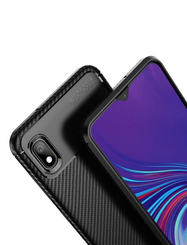 Карбоновый чехол Beetle Series  для Samsung Galaxy A10- черный