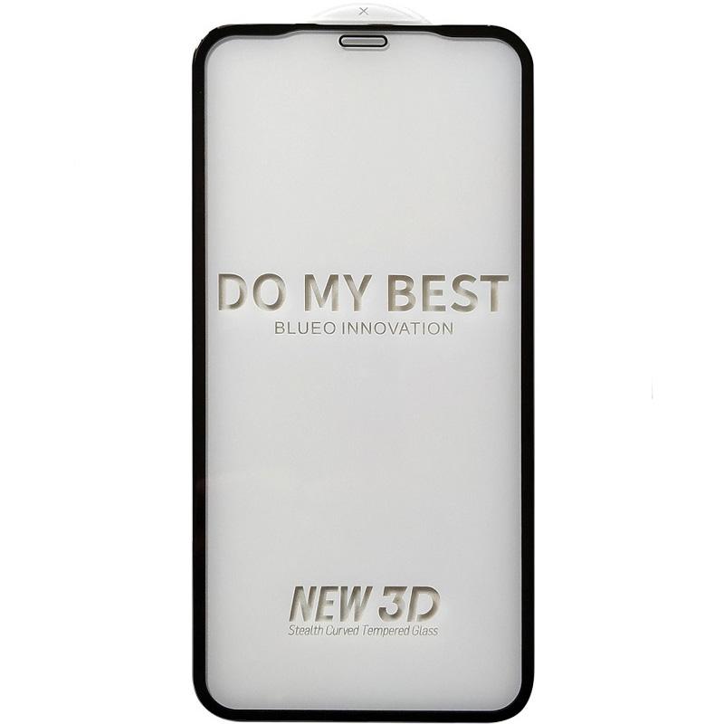Каленое защитное стекло с черной рамкой на Айфон 11