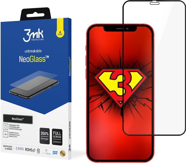 Защитное стекло с черной рамкой для Айфон 12 Мини