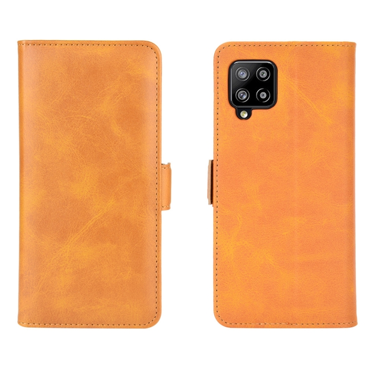 Чехол-книжка Dual-side Magnetic Buckle для Samsung Galaxy A42 - оранжевый