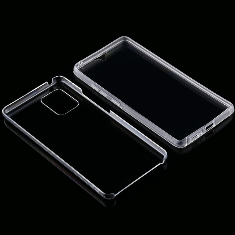 Двусторонний ультратонкий чехол Double-sided Full Coverage на Самсунг Галакси S10 Lite - прозрачный