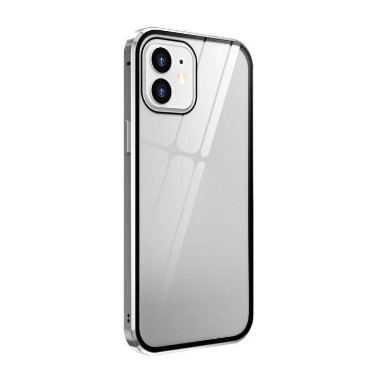 Белый чехол-книжка магнитный на Айфон 12 Мини