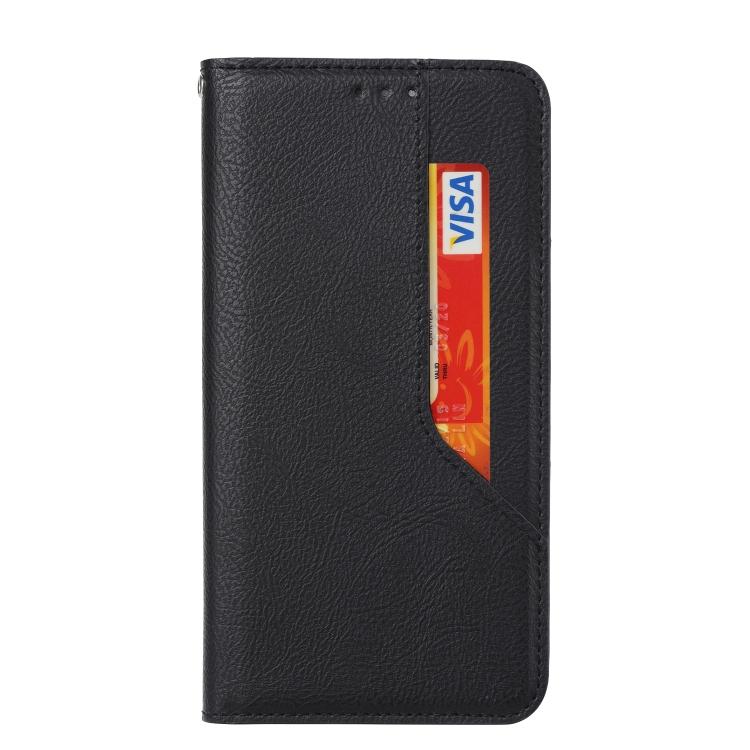 Чехол-книжка HMC Magnetic для Xiaomi Redmi Note 10 - черный