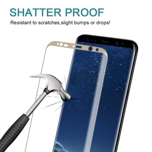 Защитное 3D Стекло на весь экран Silk-screen 0.3mm 9H для Samsung Galaxy S8 золотой