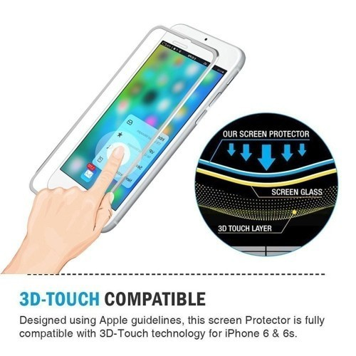Защитное 3D Стекло на весь Экран Серебристое Enkay 0.2 мм 9H для iPhone SE 2020/8/7