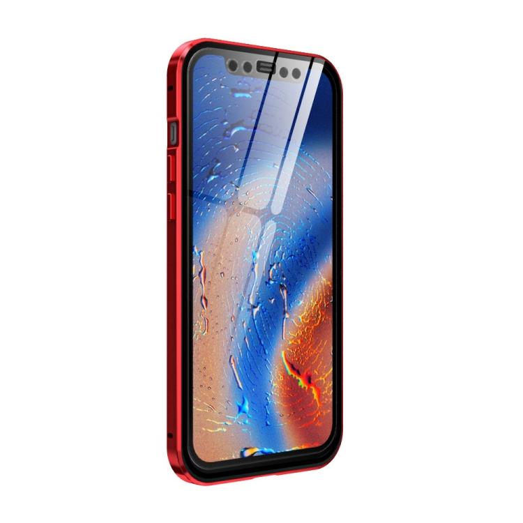 Двухсторонний чехол-книжка красного цвета для Айфон 12 Про Макс