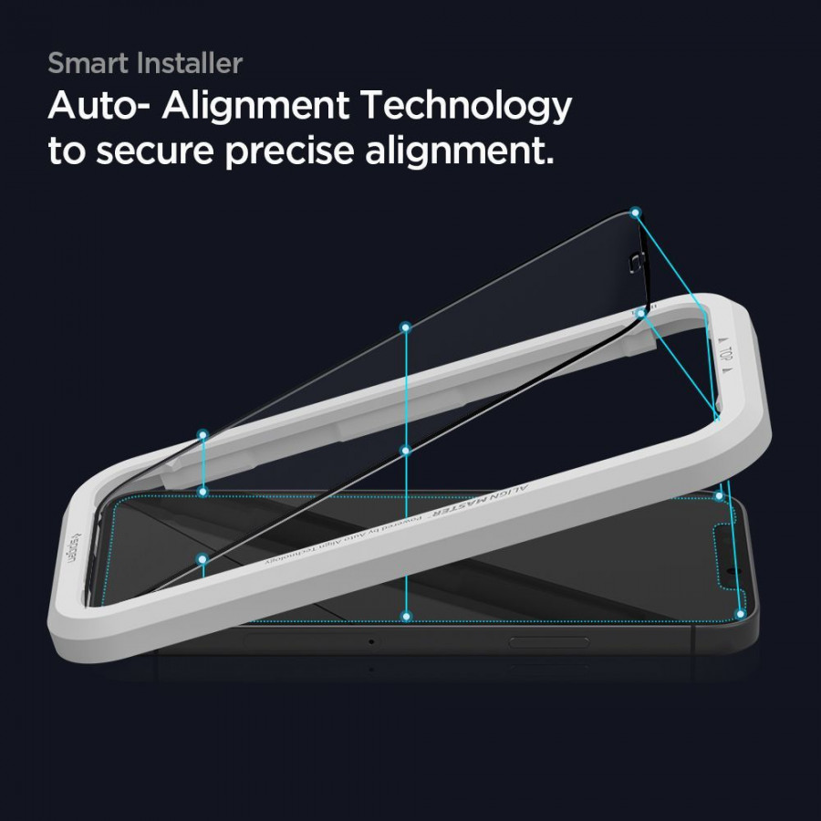 Защитное каленое стекло Спиген Alm Glass Fc для Samsung Galaxy A52 Black