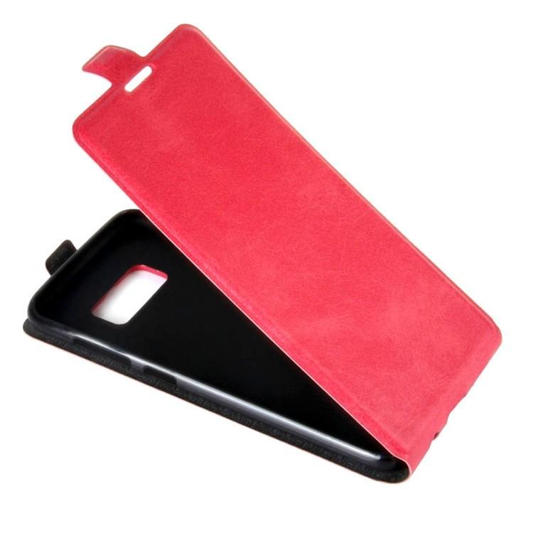 Флип-чехол на Самсунг С8-пурпурно-красный