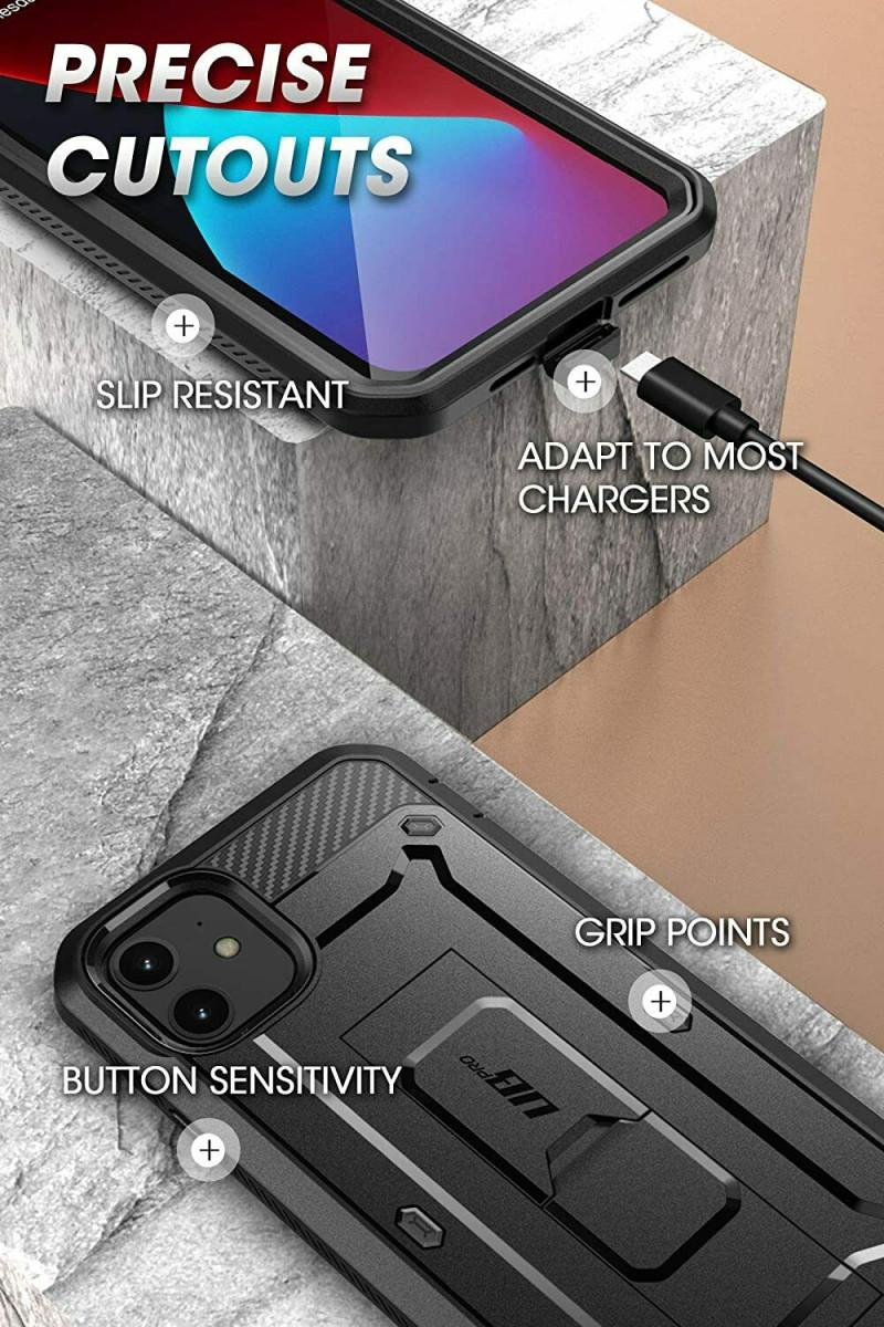 Двухсторонний чехол Supcase Unicorn Beetle для Айфон 12 Про / Айфон 12 Black