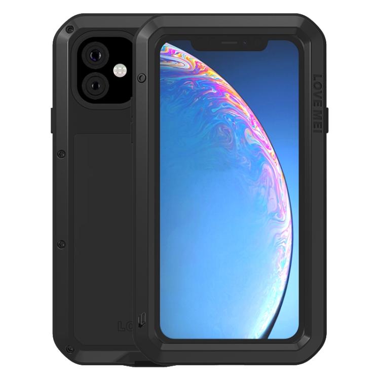 Влагозащитный противоударный чехол накладка для Айфон 11 Про черного цвета