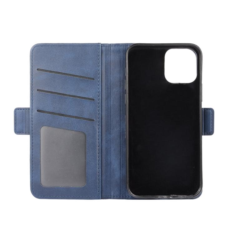 Синий чехол-книжка для Айфон 12