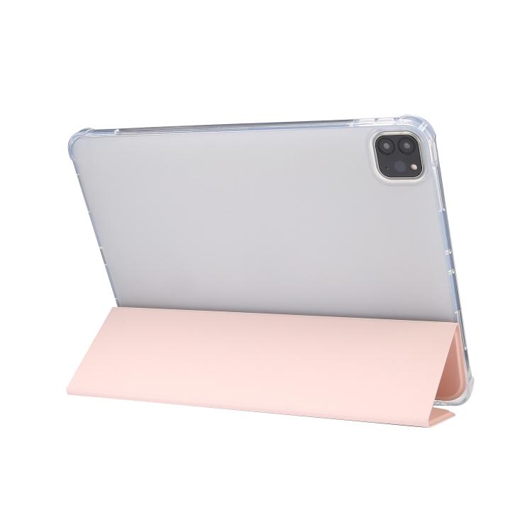Чехол-книжка 3-folding Electric Pressed  для Айпад Про 11 2021/2020/2018/Эйр 2020 - светло розовый