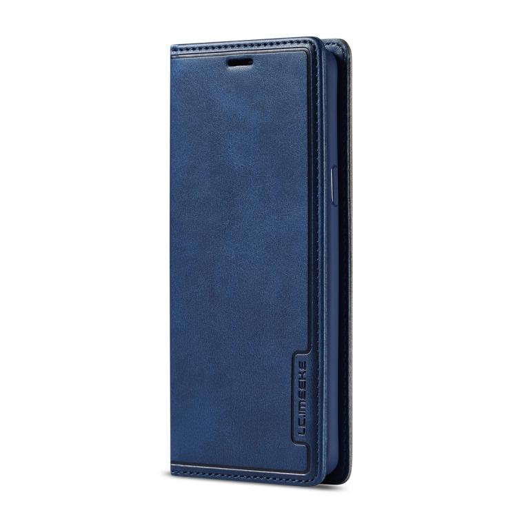 Кожаный чехол-книжка для Самсунг Гелекси С9 синего цвета