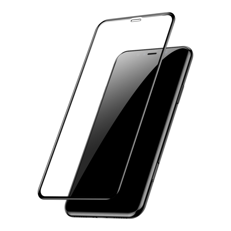 3D защитные стекла 2 ед.-PCS  Baseus на весь экран 0.3mm 9H iPhone 11 Pro/X/Xs-черные