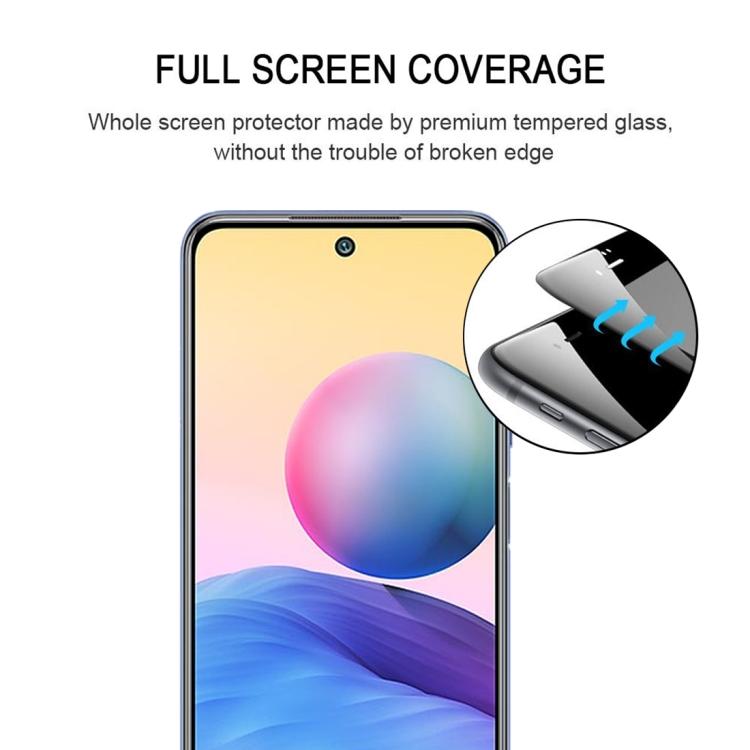 Стекло 3D Full Glue Full Screen на Ксяоми Поко М3 Про /Редми Нот 10 5Г