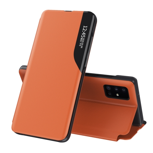 Чехол-книжка Clear View Standing Cover на Samsung Galaxy M31S - оранжевый