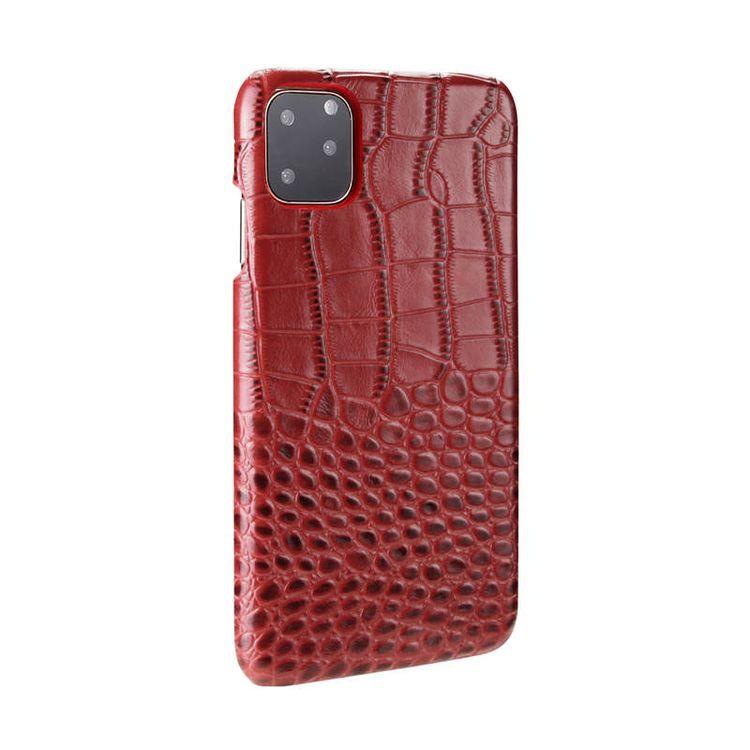 Кожаный чехол на iPhone 11 Pro Max- красный