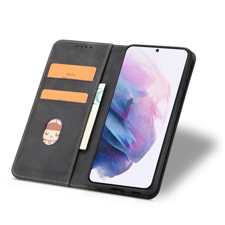 Черный чехол-книжка с слотами под кредитки для Самсунг Гелекси С21