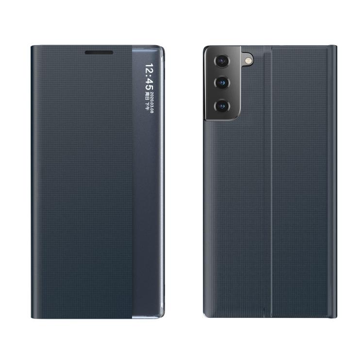 Чехол-книжка Clear View Standing Cover на Samsung Galaxy S21 FE - темно-синий