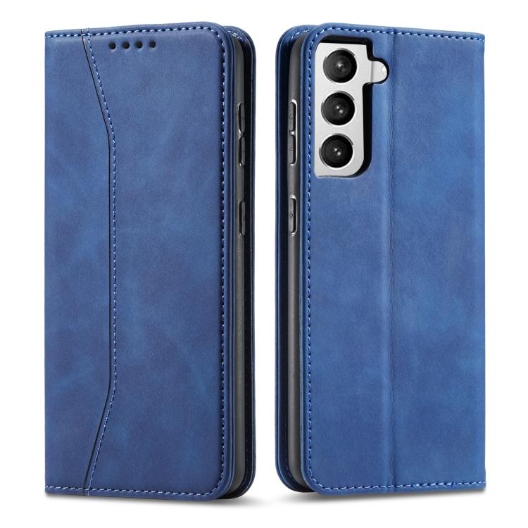 Синий чехол-книжка Calfskin на Samsung Galaxy S21