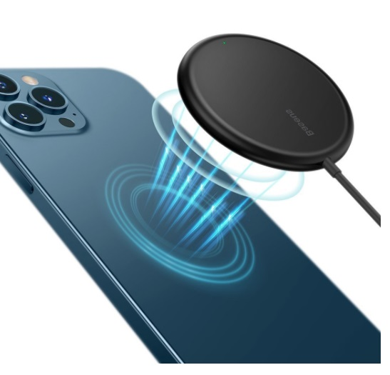 Беспроводное зарядное устройство Baseus mini magnetic wireless Qi charger 15 W для iPhone - черное