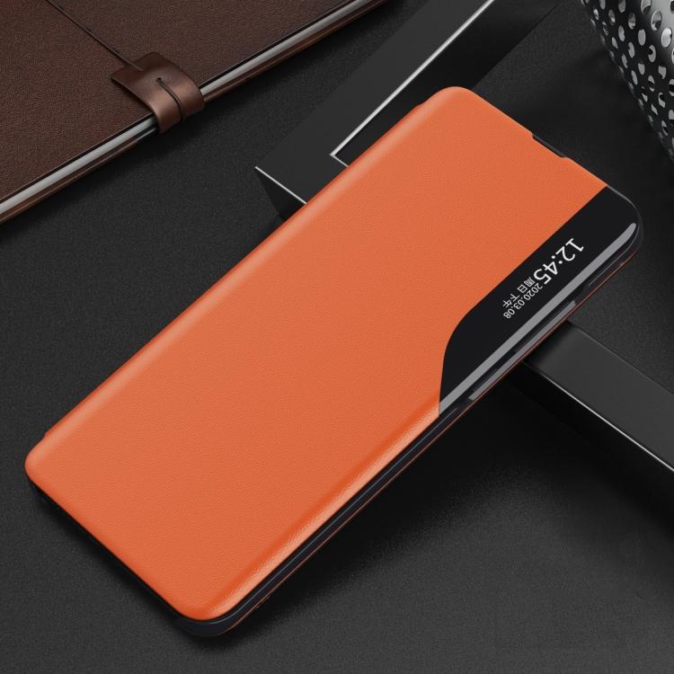 Оранжевый ударостойкий чехол-книжка для Сяоми Редми 9А