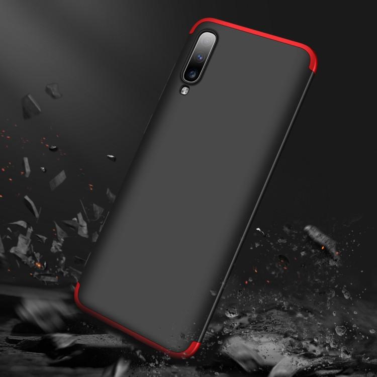 Ультратонкий чехол GKK  на Самсунг  А70 -черный красный