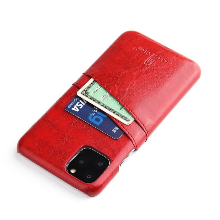Кожаный чехол красного цвета для Айфон 11 Pro