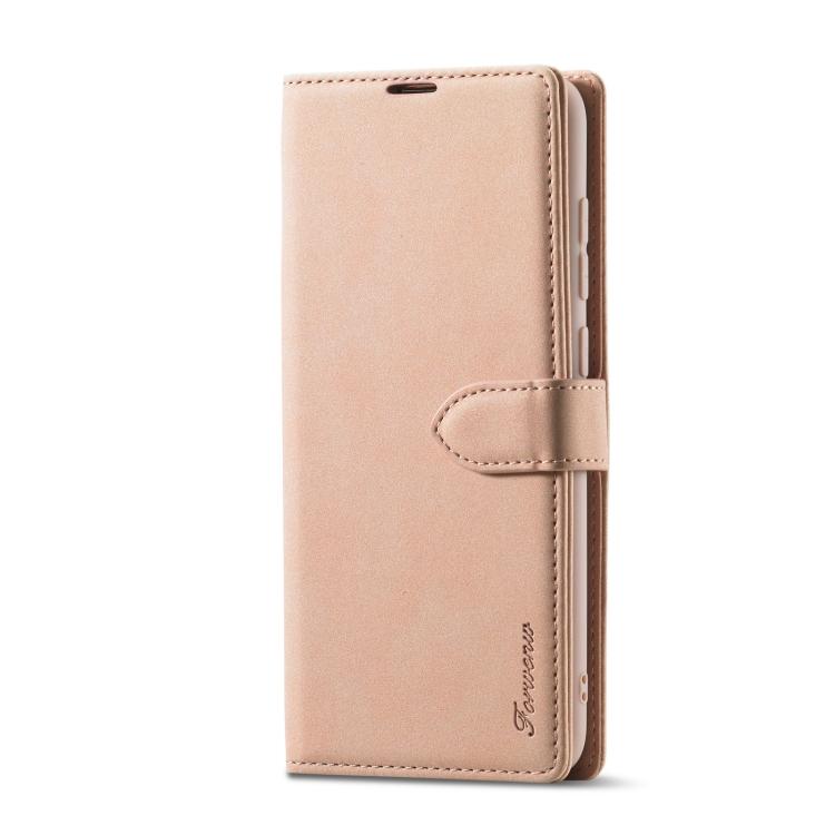 Чехол-книжка Forwenw F1 Series для Xiaomi Redmi 10X / Note 9 - розовое золото
