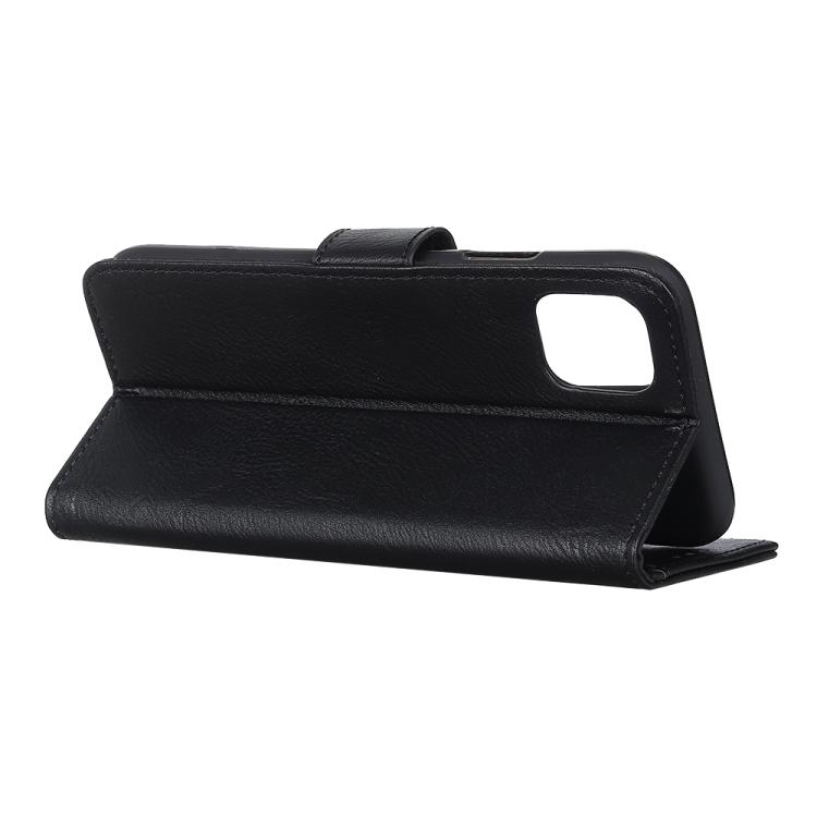 Черный чехол-книжка с складной подставкой на Айфон 12
