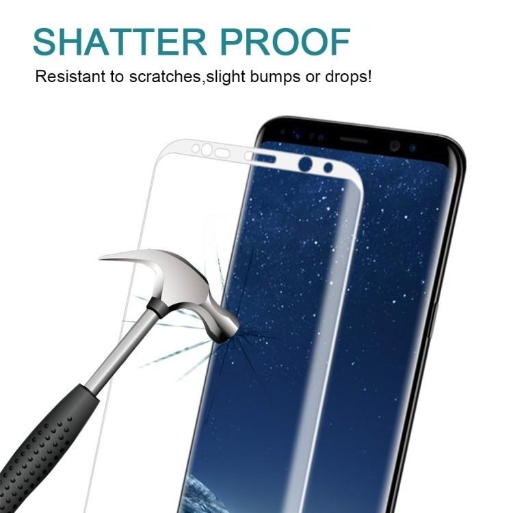 Защитное 3D Стекло на весь экран Silk-screen 0.3mm 9H для Samsung Galaxy S8-белое
