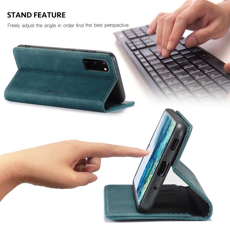 Чехол-книжка подставка на Samsung Galaxy S20 синий