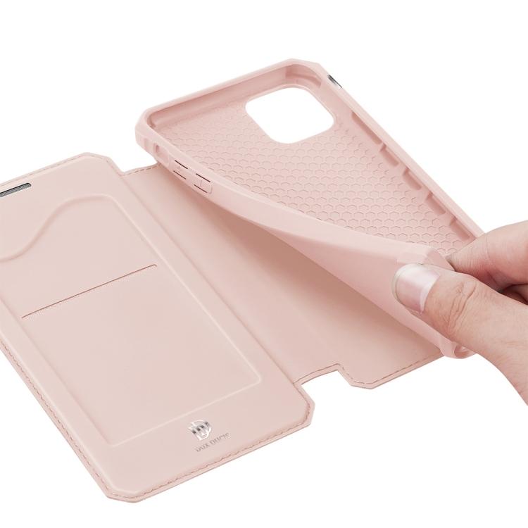 Розовый чехол-книжка DUX DUCIS Skin X Series на Айфон 12/12 Про