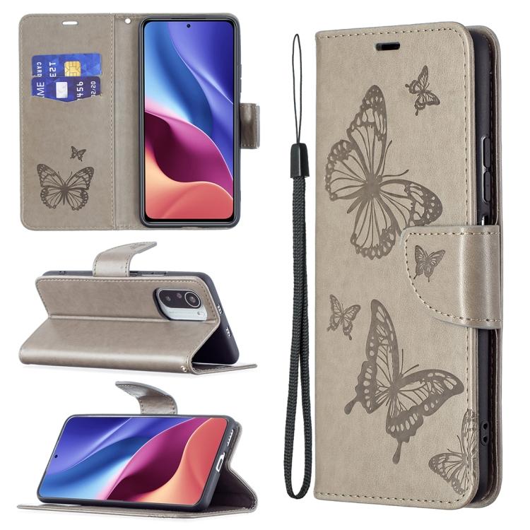 Чехол-книжка Butterflies  для Redmi K40/Xiaomi Mi 11i/Xiaomi Poco F3/K40 Pro