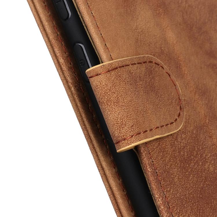 Коричневый чехол-книжка с магнитной защелкой на Айфон 13