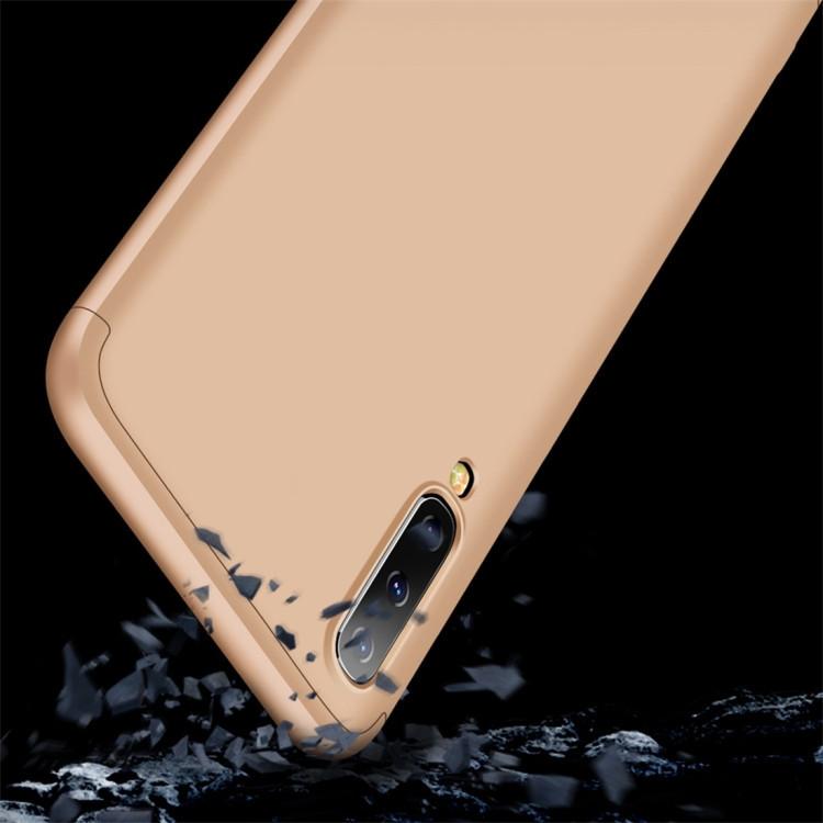 Чехол GKK Three Stage Splicing Full Coverage на Samsung Galaxy A50/A30s/A50s-золотой