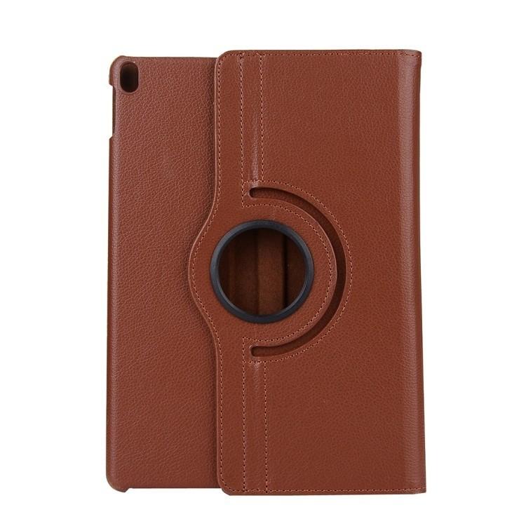 Кожаный Чехол с вращающимся элементом на 360 для Айпад Про 11/2018-коричневый