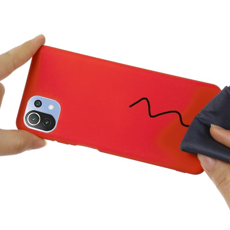 Силиконовый чехол на Ксяоми Ми 11 Лайт - красный