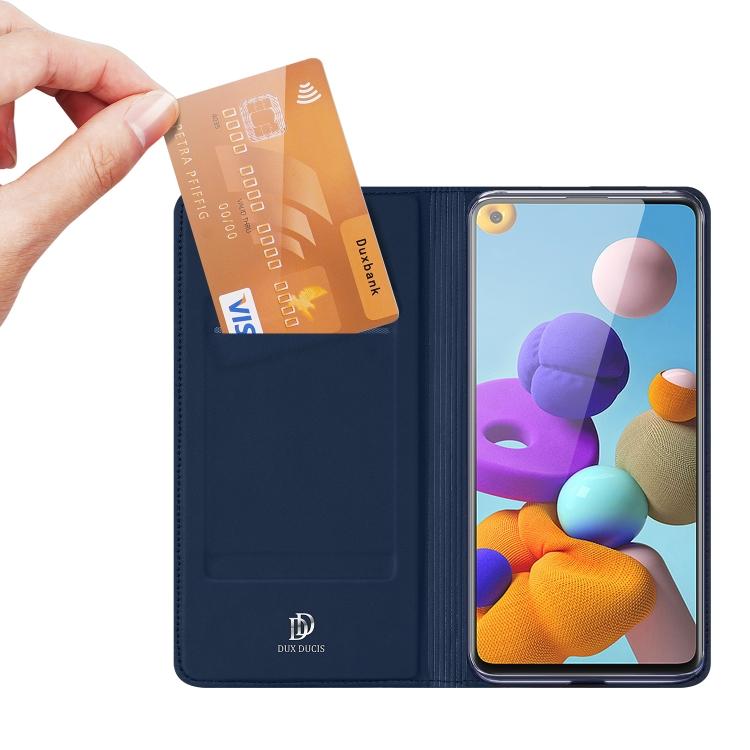 Чехол-книжка DUX DUCIS на Samsung Galaxy A21s - синий