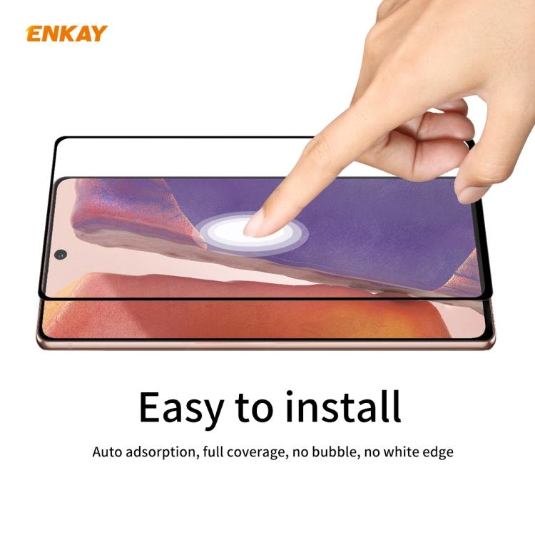 Защитное Стекло ENKAY Full Glue 0.2mm 9H 3D для Самсунг Галакси Note 20