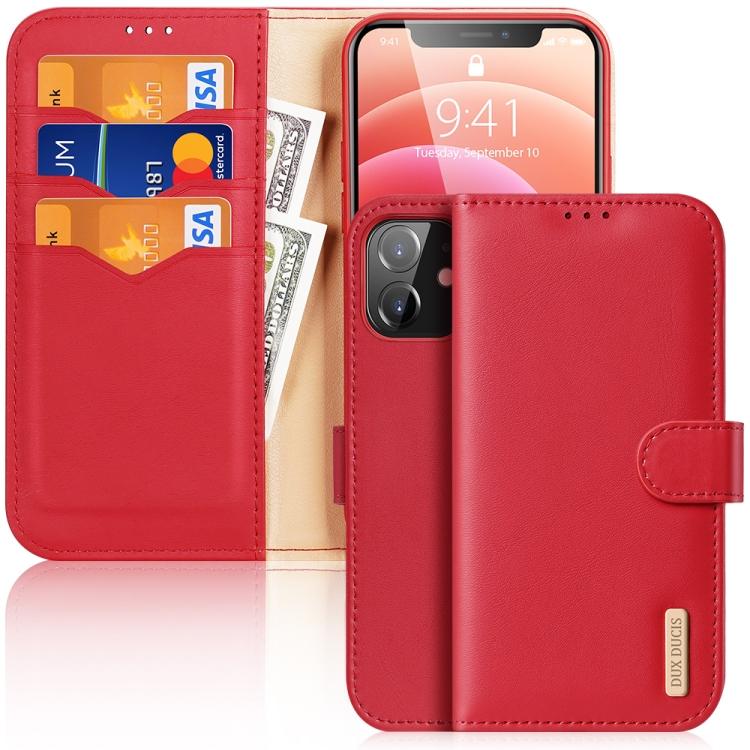 Чехол-книжка DUX DUCIS Hivo Series на iPhone 12 / 12 Pro - красный