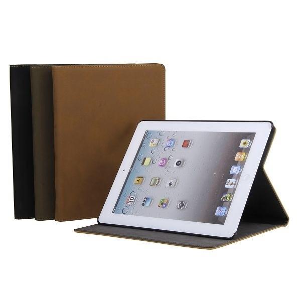 Кожаный Чехол Folio Magnetic Flip хаки для iPad 2/3/4