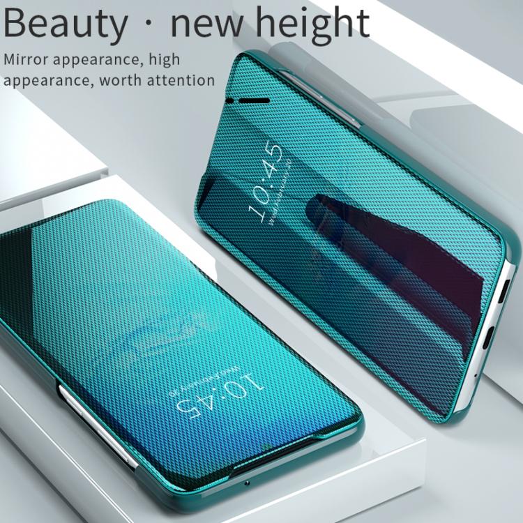 Зеркальный чехол-подставка на Samsung Galaxy S20 зеленый