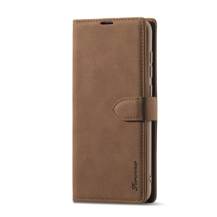 Чехол-книжка Forwenw F1 Series для Xiaomi Redmi 10X / Note 9 - коричневый