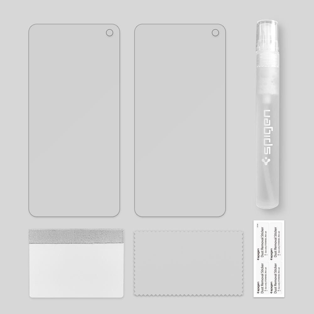 Защитное стекло и пленка в наборе против ударов и царапин для Самсунг Глекси Нот 10+ Плюс