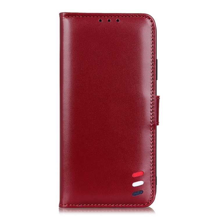 Чехол-книжка 3-Color Pearl на Realme 7 Pro - винно-красный